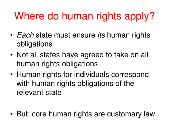 Where do human rights apply?