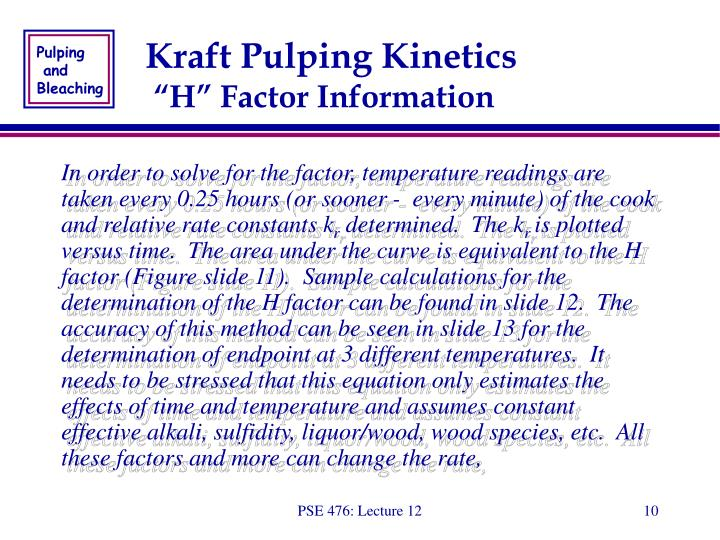 Kraft Pulping Kinetics