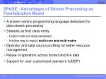 spade advantages of stream processing as parallelization model