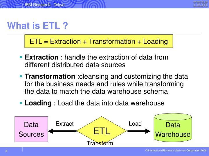 What is ETL ?