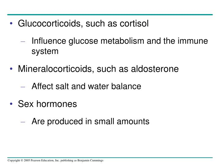 Glucocorticoids, such as cortisol