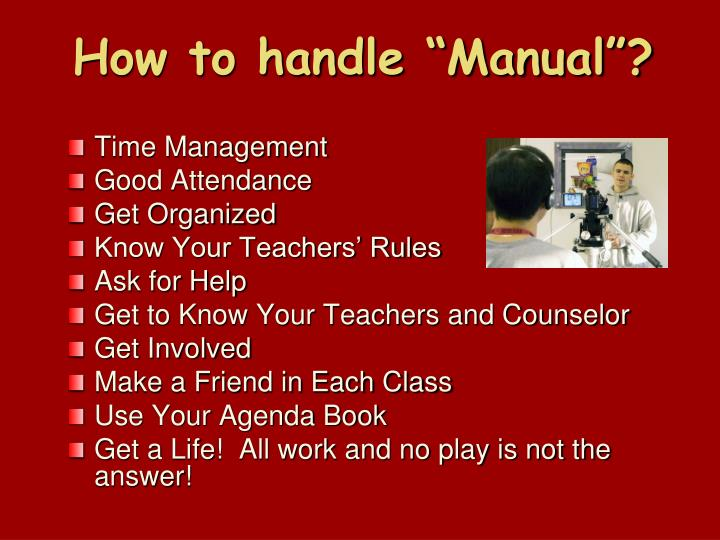 "How to handle ""Manual""?"