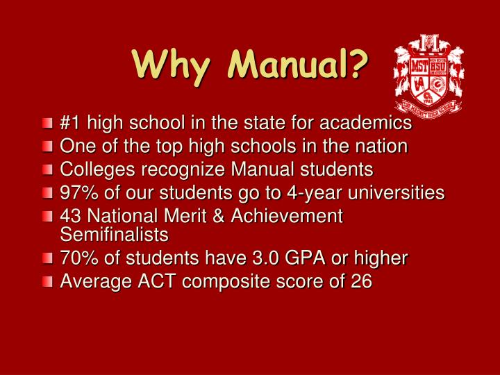 Why manual