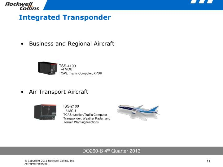 Integrated Transponder