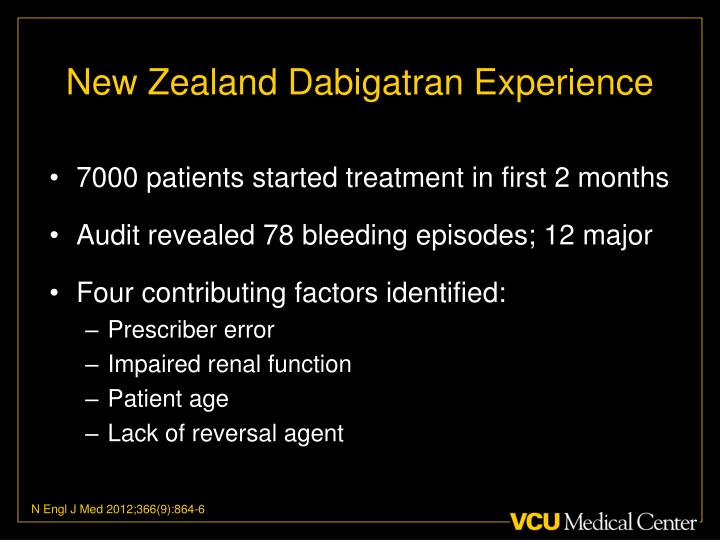 New Zealand Dabigatran Experience