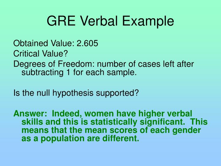 GRE Verbal Example
