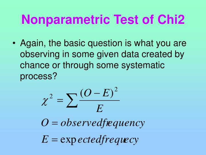 Nonparametric Test of Chi2