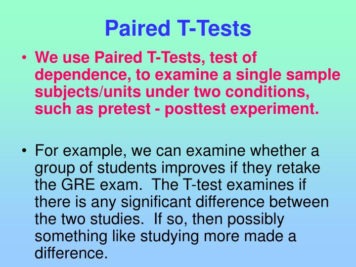 Paired T-Tests