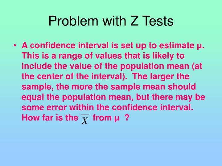 Problem with Z Tests
