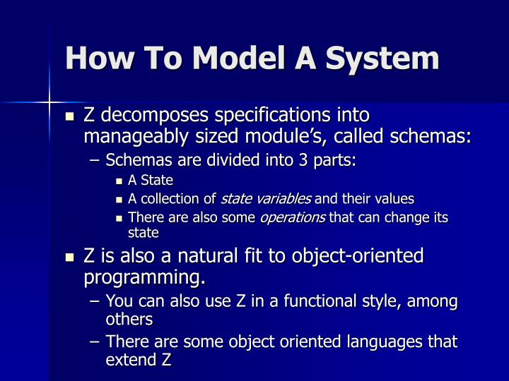 How To Model A System
