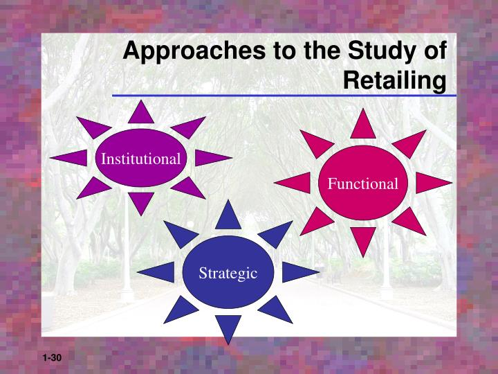 Approaches to the Study of Retailing