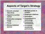 aspects of target s strategy