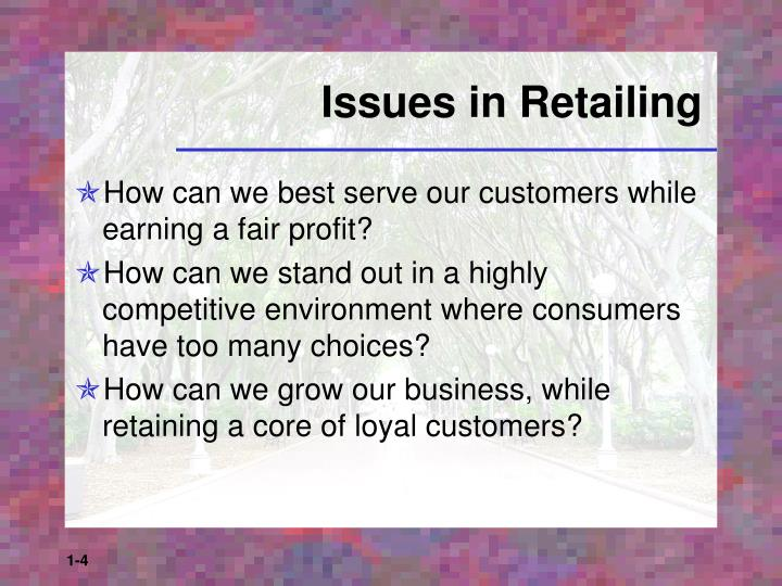Issues in Retailing