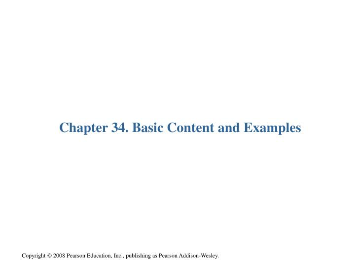 Chapter 34. Basic Content and Examples