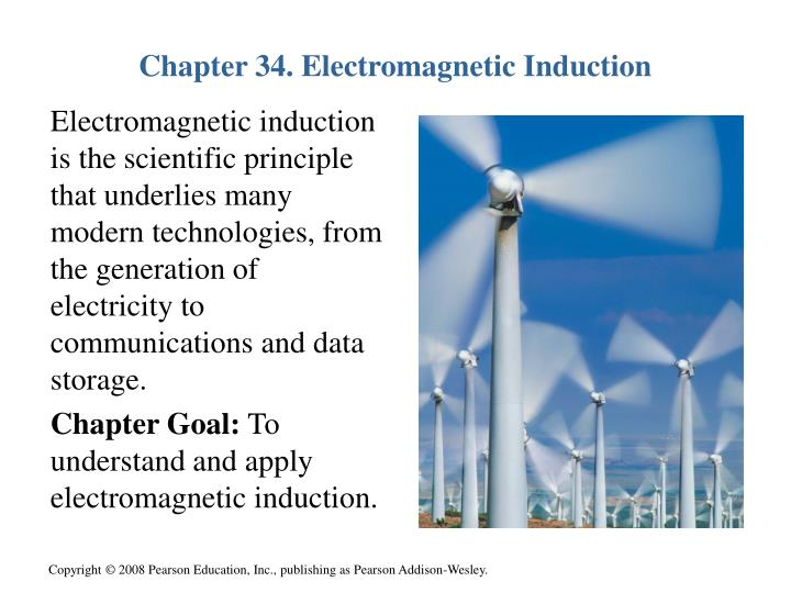 Chapter 34 electromagnetic induction