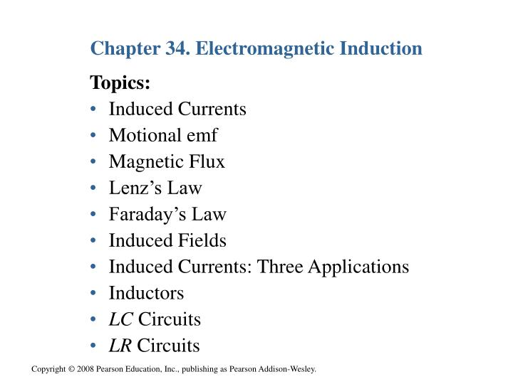 Chapter 34 electromagnetic induction1