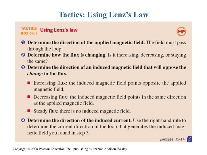 Tactics: Using Lenz's Law