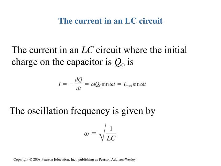 The current in an LC circuit