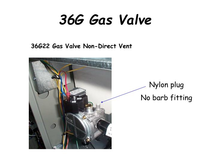 36G22 Gas Valve Non-Direct Vent