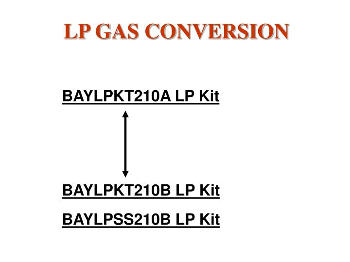 LP GAS CONVERSION