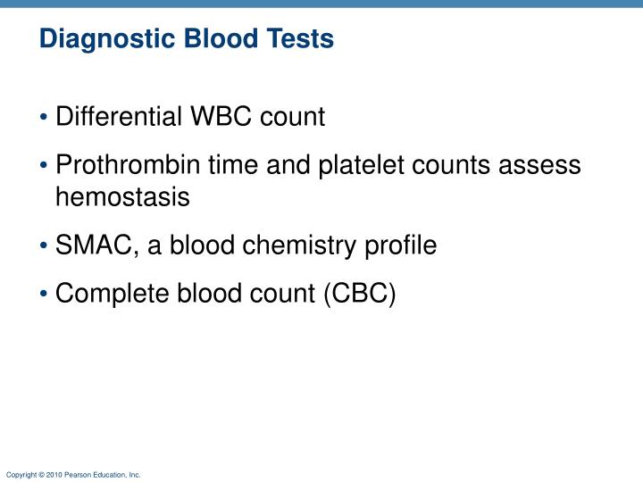 Diagnostic Blood Tests