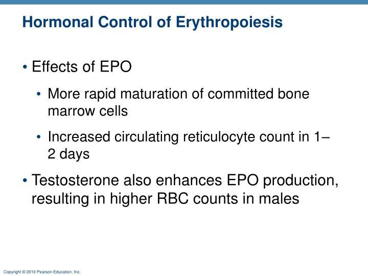 Hormonal Control of Erythropoiesis