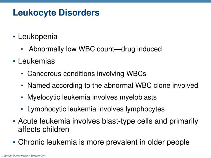 Leukocyte Disorders