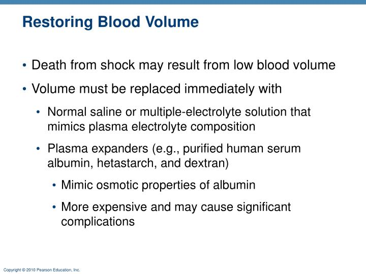 Restoring Blood Volume