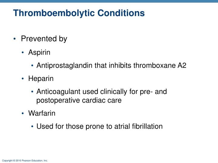 Thromboembolytic Conditions