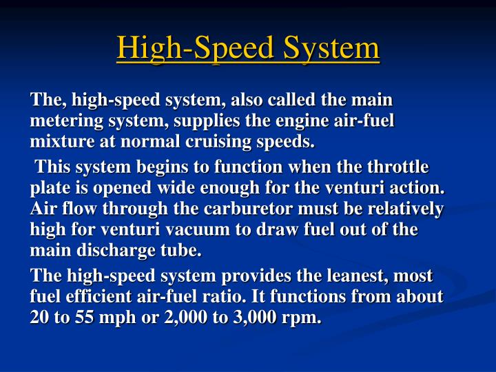 High-Speed System