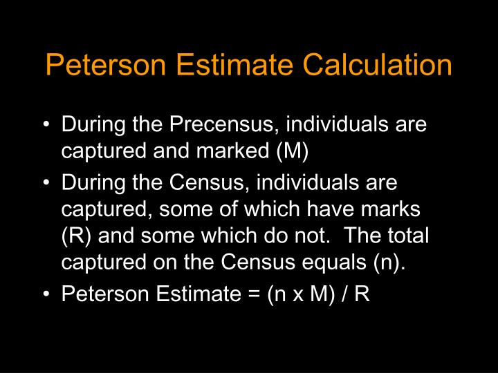 Peterson Estimate Calculation