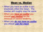 mean vs median