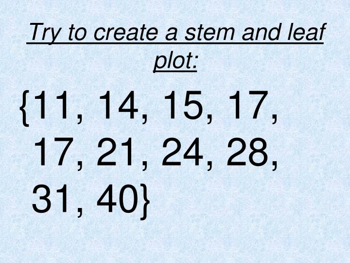 Try to create a stem and leaf plot: