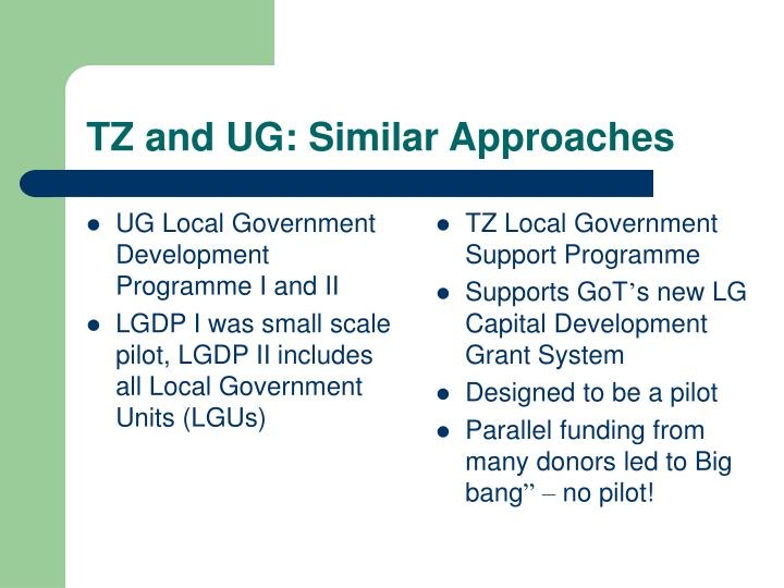 Tz and ug similar approaches