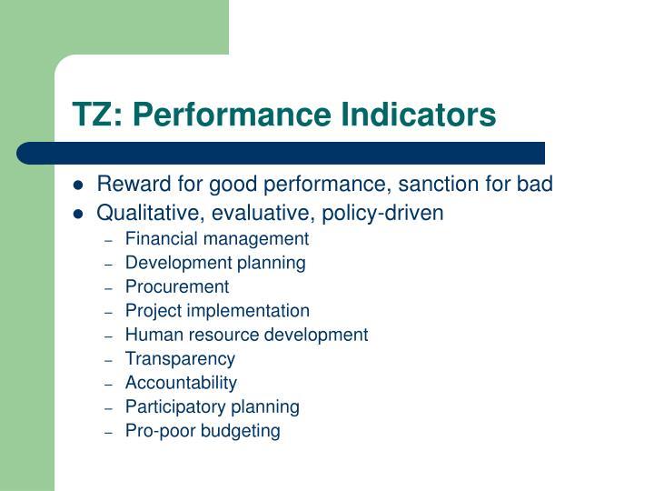 TZ: Performance Indicators
