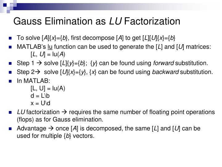Gauss Elimination as