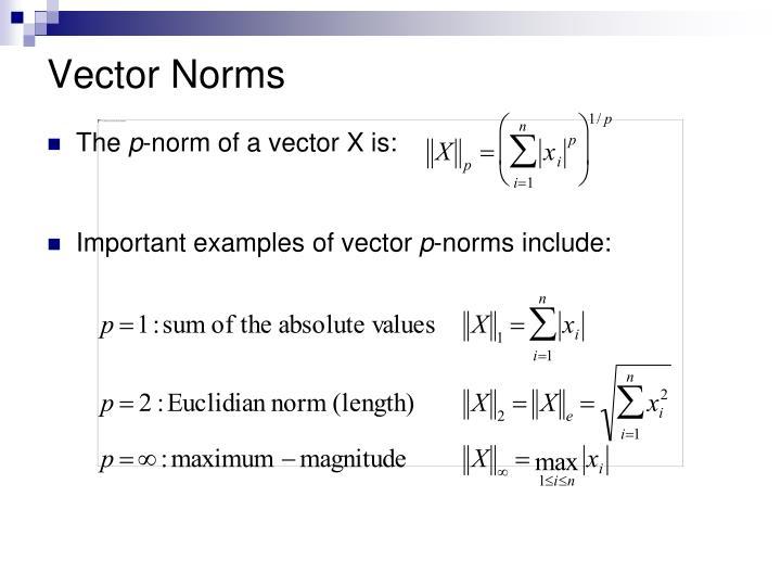 Vector Norms