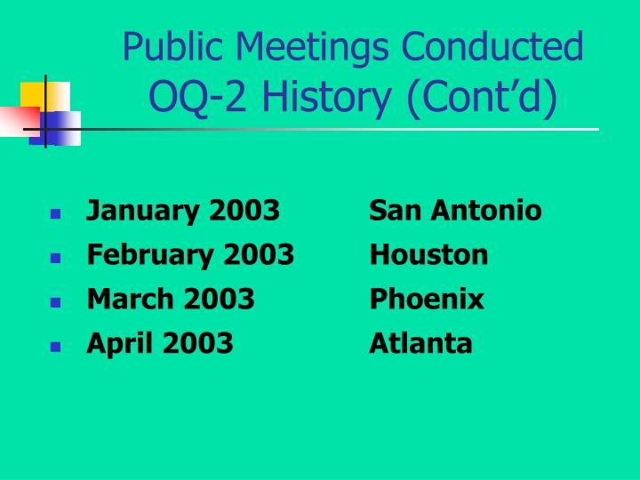 January 2003San Antonio