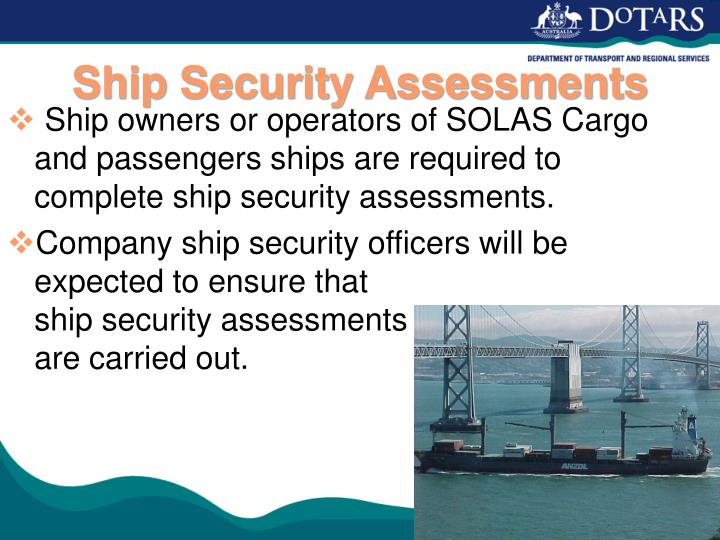 Ship Security Assessments