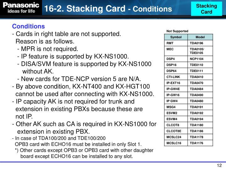 Stacking Card