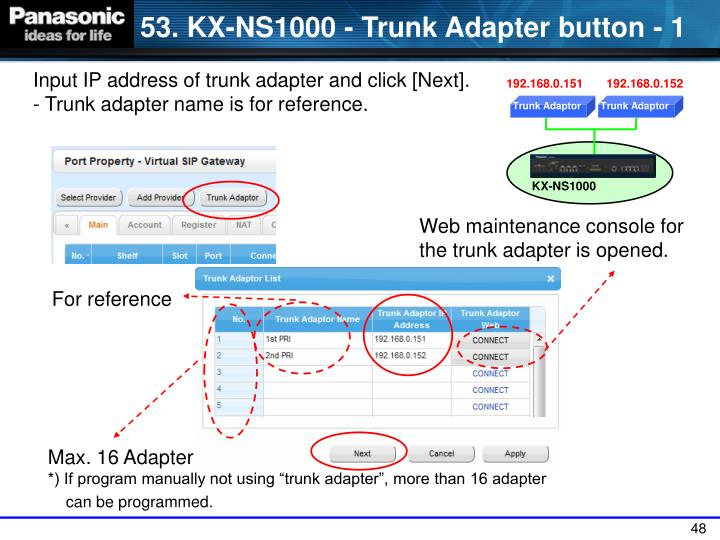 Trunk Adaptor