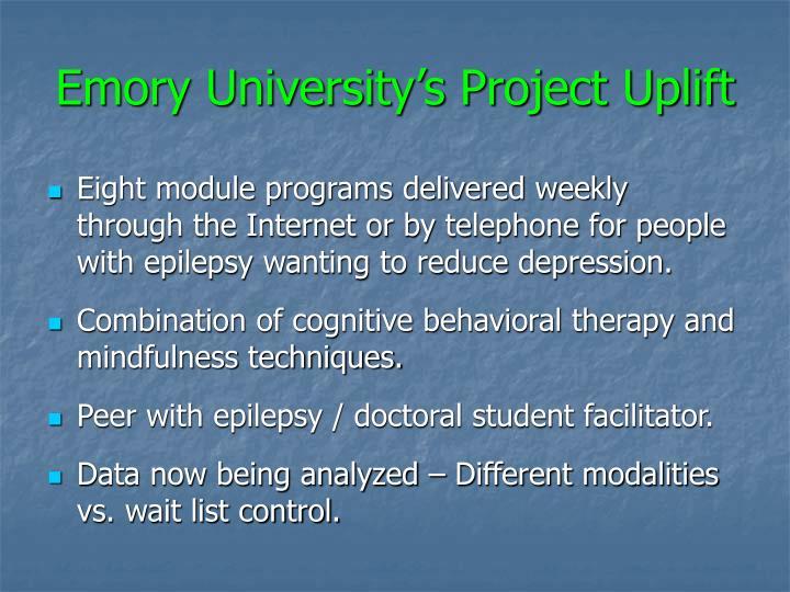 Emory University's Project Uplift