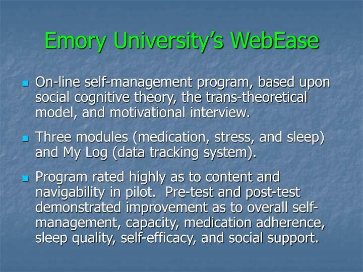 Emory University's WebEase