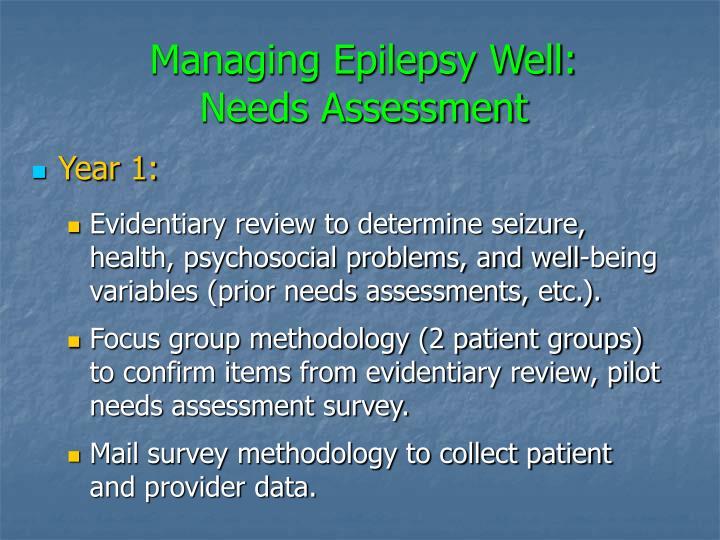 Managing Epilepsy Well: