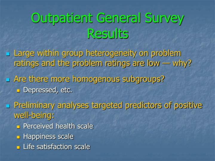 Outpatient General Survey Results