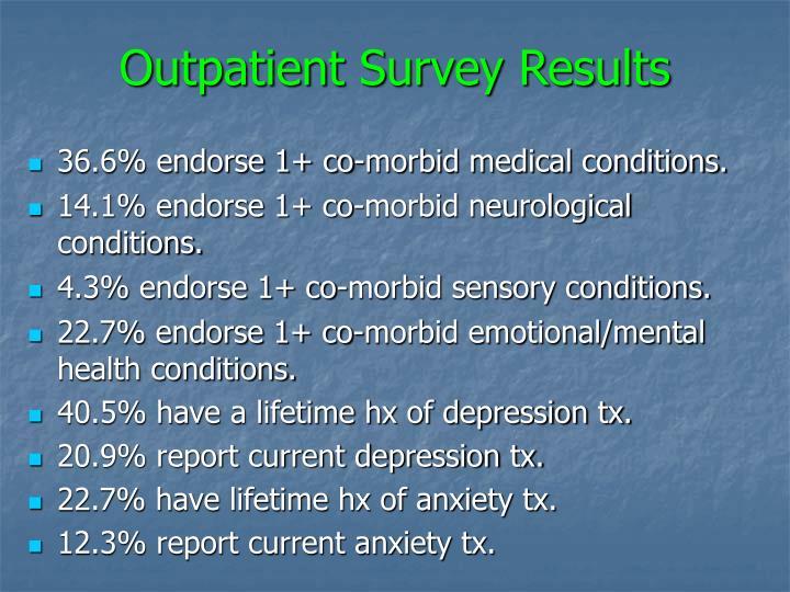 Outpatient Survey Results