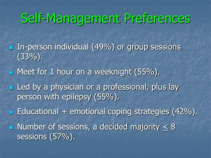 Self-Management Preferences