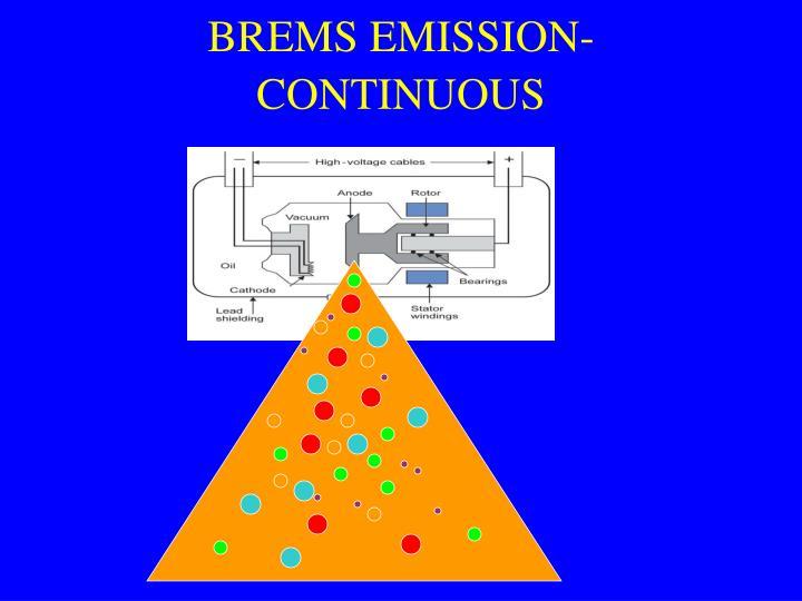 BREMS EMISSION-CONTINUOUS