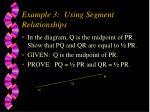 example 3 using segment relationships