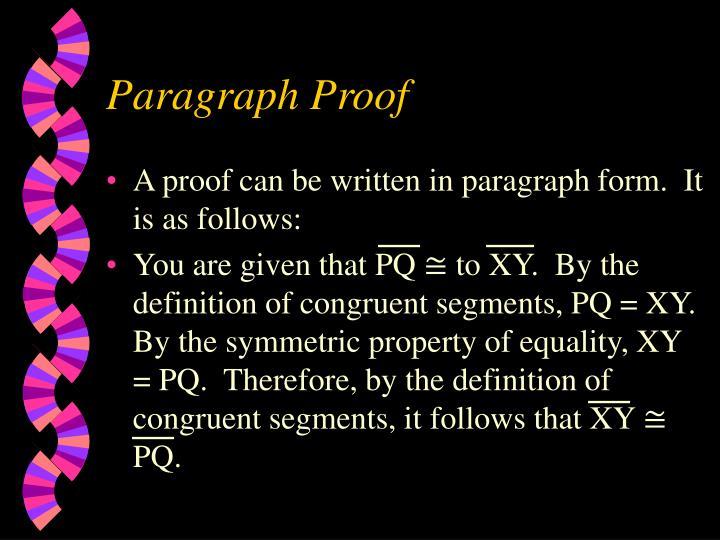 Paragraph Proof